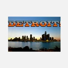 Detroit City Rectangle Magnet