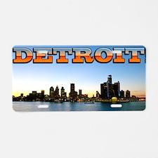 Detroit City Aluminum License Plate