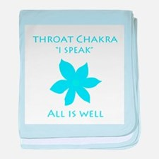 throat chakra baby blanket