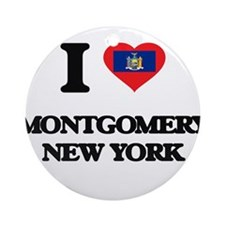 I love Montgomery New York Ornament (Round)