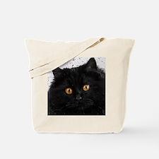 Black Persian Face Tote Bag