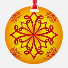 Red Ornate Design Ornament