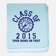 Class Of 2015 Track and Field baby blanket