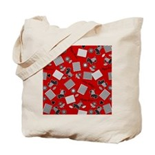 Puppy Love Scotty Terrier Red Tote Bag