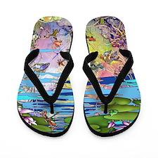 Water life Flip Flops