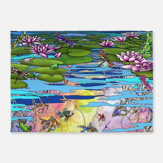 Water life 5'x7'Area Rug