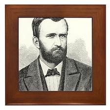 Ulysses S. Grant Illustrative Portrait Framed Tile