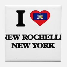 I love New Rochelle New York Tile Coaster