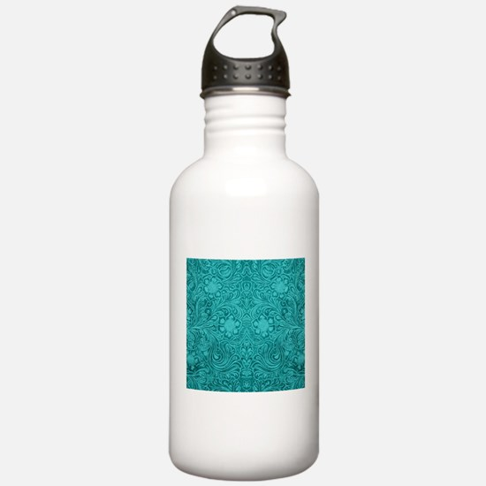 Teal Green Faux Suede Water Bottle