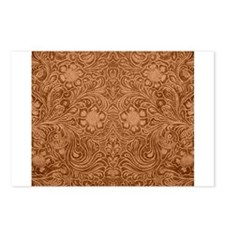 Brown Faux Suede Leather Postcards (Package of 8)