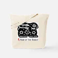 Chinese Zodiac Rabbit Tote Bag