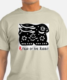 Chinese Zodiac Rabbit Ash Grey T-Shirt