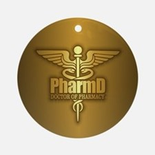 PharmD gold Ornament (Round)