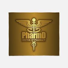 Pharmd Gold Throw Blanket