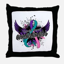 Thyroid Cancer Awareness 16 Throw Pillow
