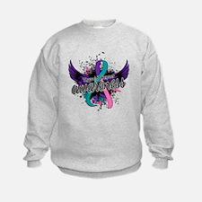 Thyroid Cancer Awareness 16 Sweatshirt