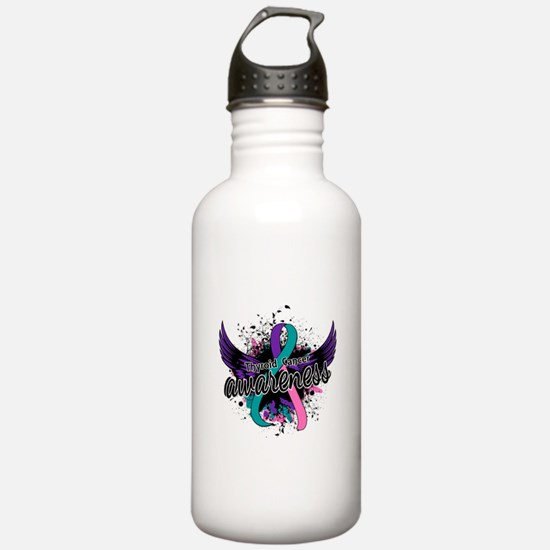 Thyroid Cancer Awarene Water Bottle