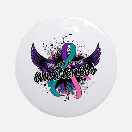 Thyroid Cancer Awareness 16 Ornament (Round)