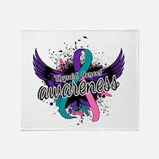 Thyroid Cancer Awareness 16 Throw Blanket