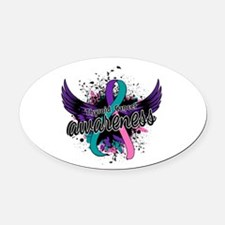 Thyroid Cancer Awareness 16 Oval Car Magnet