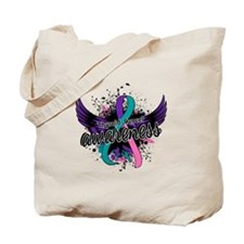 Thyroid Cancer Awareness 16 Tote Bag