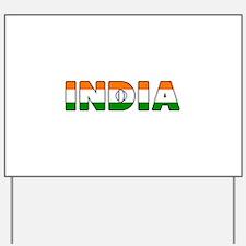 India Yard Sign