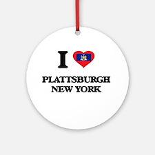 I love Plattsburgh New York Ornament (Round)