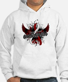 Throat Cancer Awareness 16 Hoodie