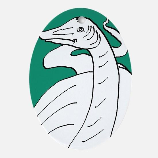 Diplodocus longus Green Oval Ornament