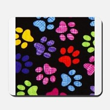 Paws - Multi Colored Mousepad