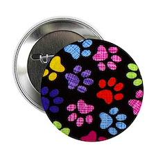 """Paws - Multi Colored 2.25"""" Button"""