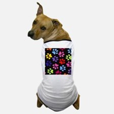 Paws - Multi Colored Dog T-Shirt