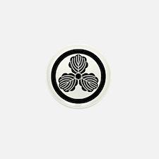 Three oak leaves in circle Mini Button