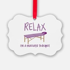Relax Message Table Ornament