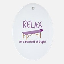 Relax Message Table Ornament (Oval)