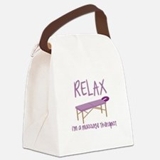 Relax Message Table Canvas Lunch Bag