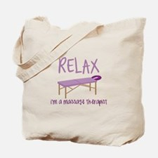 Relax Message Table Tote Bag