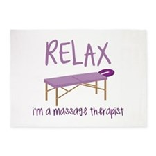 Relax Message Table 5'x7'Area Rug