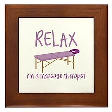 Relax Message Table Framed Tile