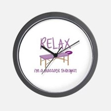 Relax Message Table Wall Clock