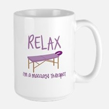 Relax Message Table Mugs