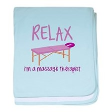 Relax Message Table baby blanket