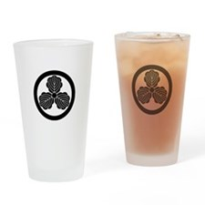 Three oak leaves in circle Drinking Glass