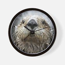 Sea Otter 11 Wall Clock