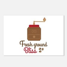 Fresh ground coffee Postcards (Package of 8)