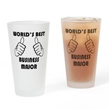 Worlds Best Business Major Drinking Glass