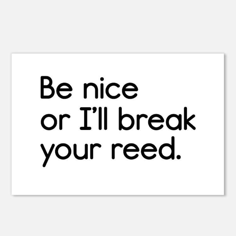 Be Nice, or I'll Break Yo Postcards (Package of 8)