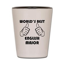 Worlds Best English Major Shot Glass