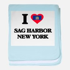 I love Sag Harbor New York baby blanket