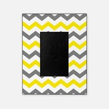 Yellow and Gray Chevron Pattern Picture Frame
